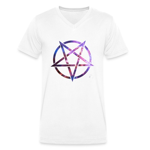 Cosmic Pentagramm - Men's Organic V-Neck T-Shirt by Stanley & Stella