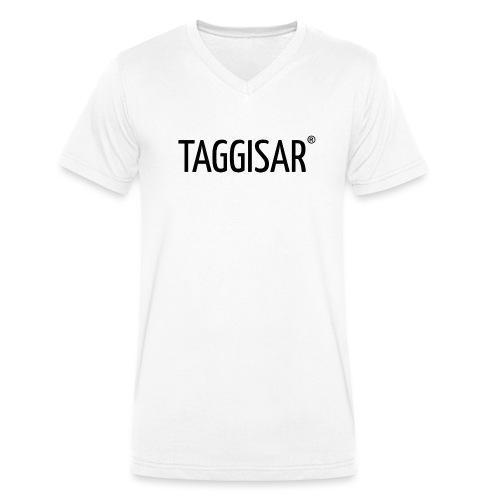 Taggisar Logo Black - Ekologisk T-shirt med V-ringning herr från Stanley & Stella