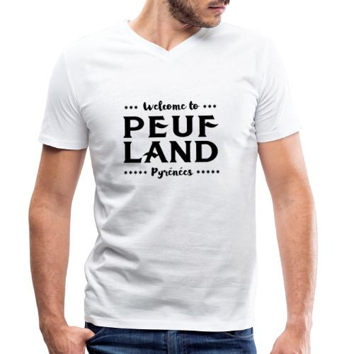 Peuf Land Pyrénées - Black - T-shirt bio col V Stanley & Stella Homme