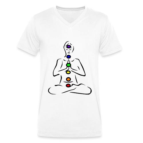 Chakras Chakren - Männer Bio-T-Shirt mit V-Ausschnitt von Stanley & Stella