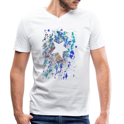 look at... - Männer Bio-T-Shirt mit V-Ausschnitt von Stanley & Stella