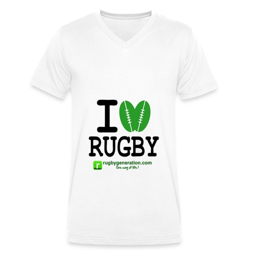 ILoveRugby png - T-shirt bio col V Stanley & Stella Homme