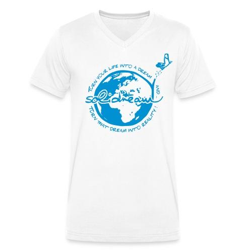 logosolidreamvectorisebleu - T-shirt bio col V Stanley & Stella Homme