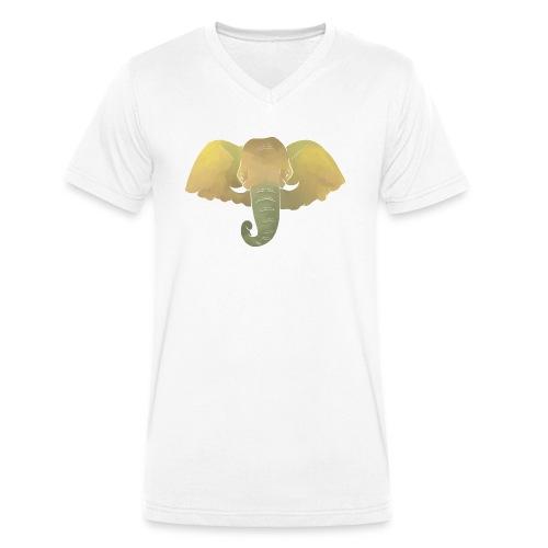 Elefant - Elefantenkopf - Männer Bio-T-Shirt mit V-Ausschnitt von Stanley & Stella