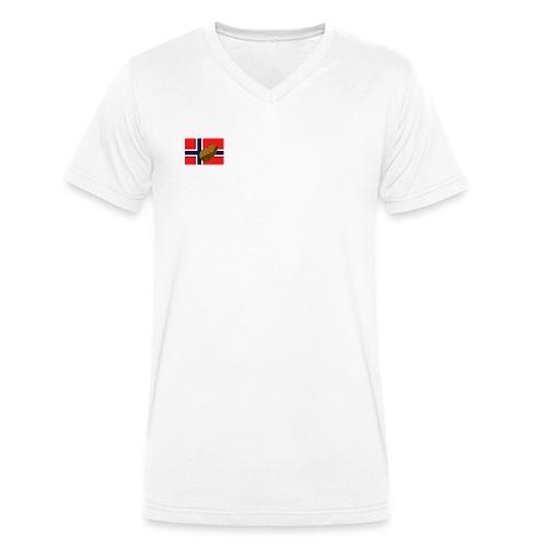 NorPot - Økologisk T-skjorte med V-hals for menn fra Stanley & Stella