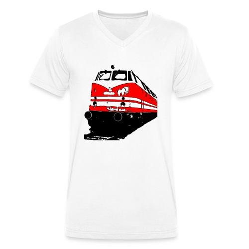 Deutsche Reichsbahn - Männer Bio-T-Shirt mit V-Ausschnitt von Stanley & Stella