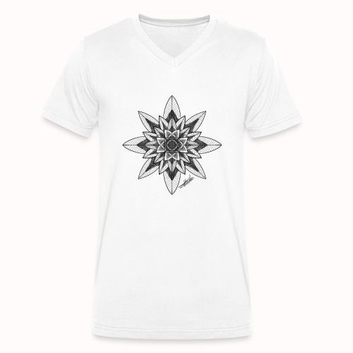 Flower - Men's Organic V-Neck T-Shirt by Stanley & Stella