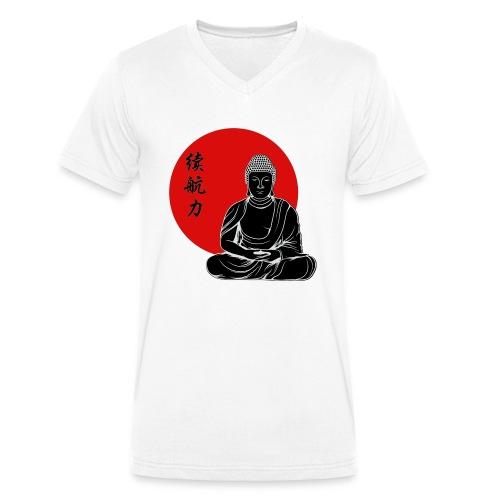 Der Buddha | Stärke durch Ausdauer - Männer Bio-T-Shirt mit V-Ausschnitt von Stanley & Stella