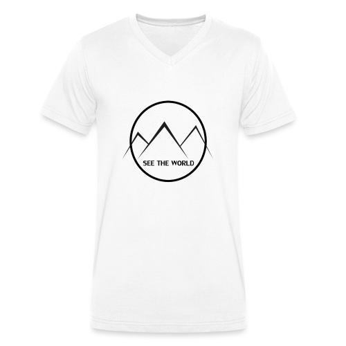 Lake The World - Men's Organic V-Neck T-Shirt by Stanley & Stella