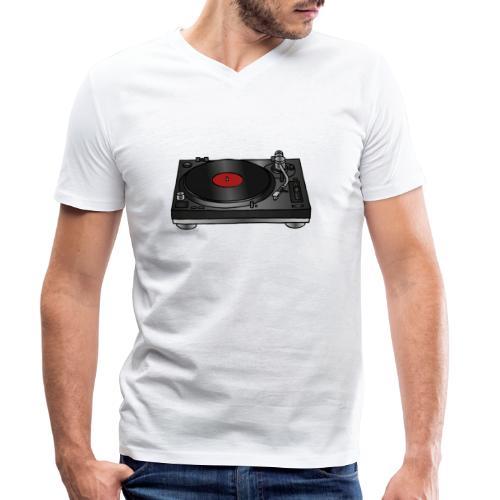 Plattenspieler VINYL - Männer Bio-T-Shirt mit V-Ausschnitt von Stanley & Stella