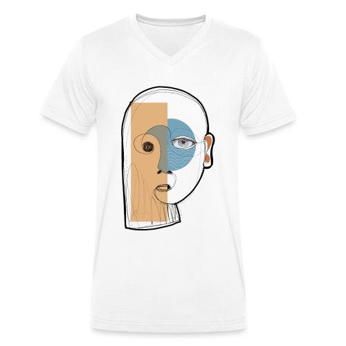 portrait - T-shirt ecologica da uomo con scollo a V di Stanley & Stella