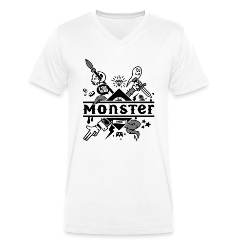 monster - Men's Organic V-Neck T-Shirt by Stanley & Stella