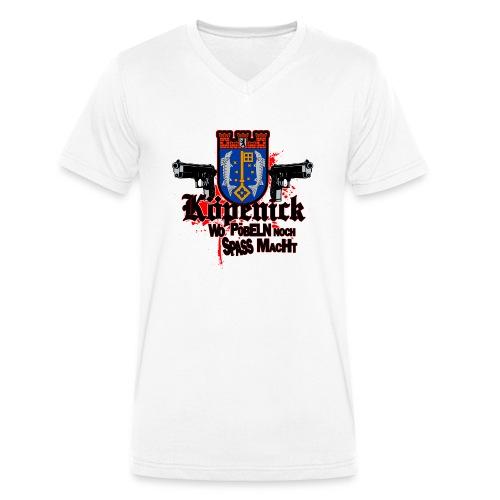 Köpenick pöbeln - Männer Bio-T-Shirt mit V-Ausschnitt von Stanley & Stella