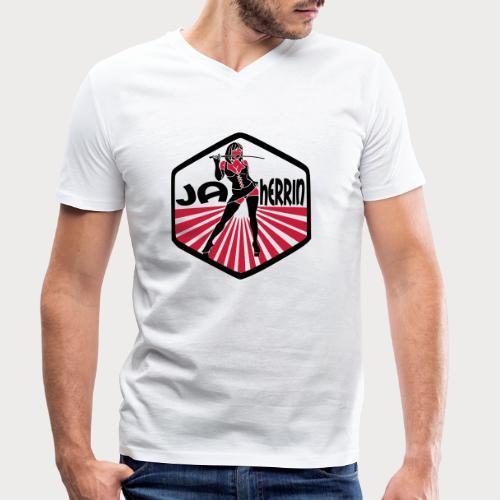 ja herrin retro - Männer Bio-T-Shirt mit V-Ausschnitt von Stanley & Stella