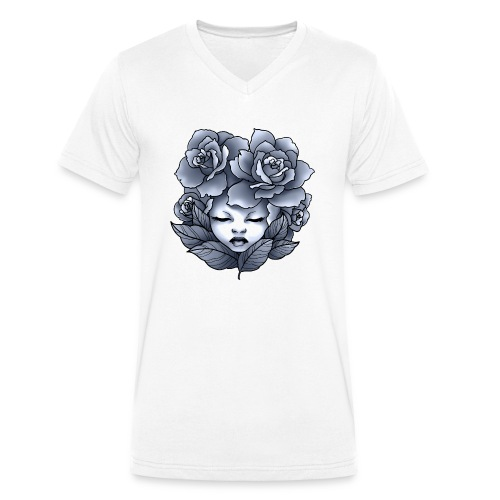Flower Head - T-shirt bio col V Stanley & Stella Homme