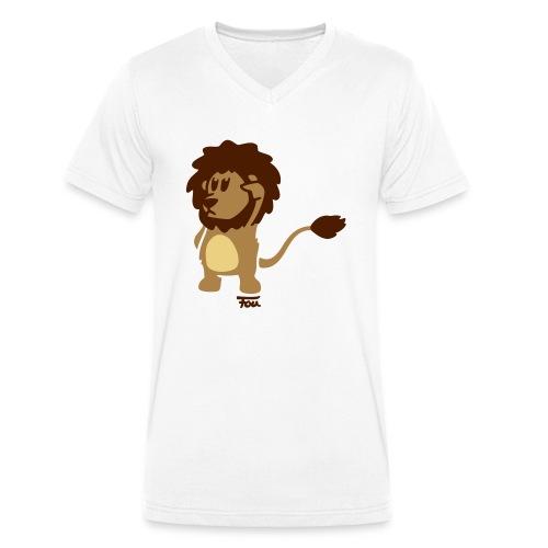 Löwe - colored - Männer Bio-T-Shirt mit V-Ausschnitt von Stanley & Stella