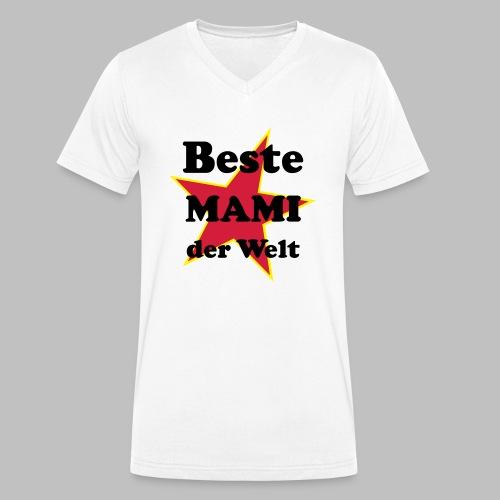 Beste MAMI der Welt - Mit Stern - Männer Bio-T-Shirt mit V-Ausschnitt von Stanley & Stella