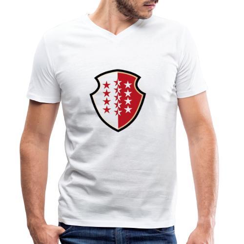 Bouclier Valaisan - Männer Bio-T-Shirt mit V-Ausschnitt von Stanley & Stella