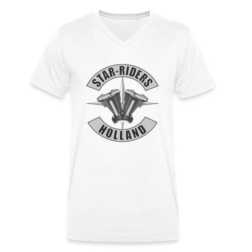 SRH logo - Mannen bio T-shirt met V-hals van Stanley & Stella