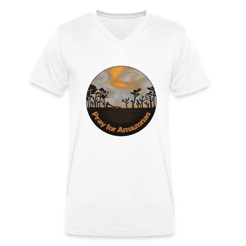 Pray for Amazonas - Männer Bio-T-Shirt mit V-Ausschnitt von Stanley & Stella