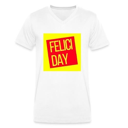 Feliciday - Camiseta ecológica hombre con cuello de pico de Stanley & Stella