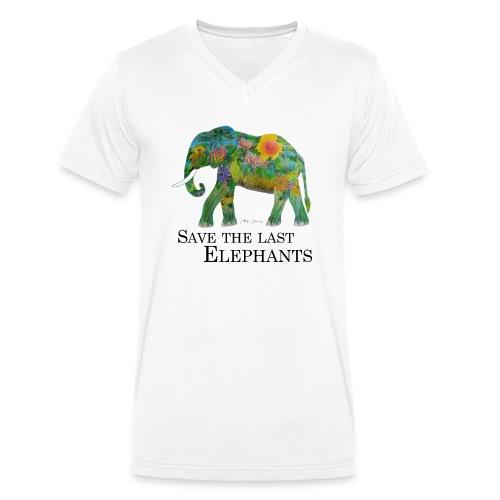 Save The Last Elephants - Männer Bio-T-Shirt mit V-Ausschnitt von Stanley & Stella