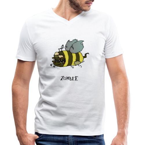 Zombee - Männer Bio-T-Shirt mit V-Ausschnitt von Stanley & Stella