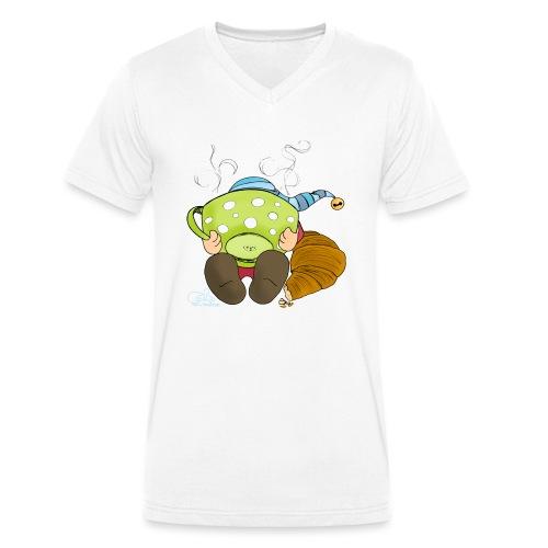 Morgenwicht - Männer Bio-T-Shirt mit V-Ausschnitt von Stanley & Stella