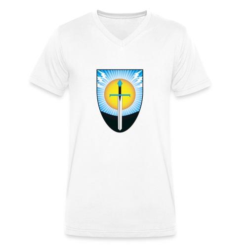Freie Fechter zu Hamburg Schwertwahn - Männer Bio-T-Shirt mit V-Ausschnitt von Stanley & Stella