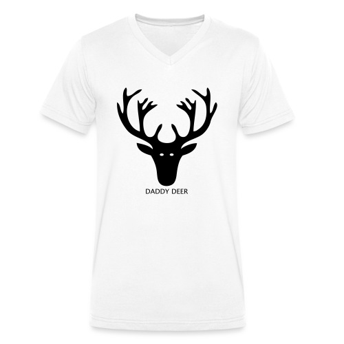 DADDY DEER - Men's Organic V-Neck T-Shirt by Stanley & Stella