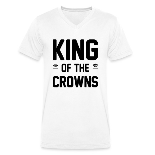 King of the crowns - Mannen bio T-shirt met V-hals van Stanley & Stella