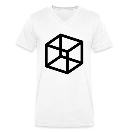 Cleisiophobia / afraid of beeing locked - Männer Bio-T-Shirt mit V-Ausschnitt von Stanley & Stella