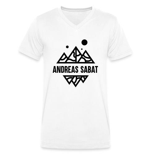 sabat logo black - Økologisk Stanley & Stella T-shirt med V-udskæring til herrer