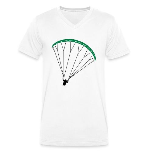 Paraglider Nikita - Men's Organic V-Neck T-Shirt by Stanley & Stella