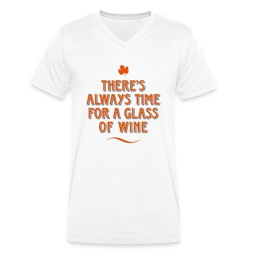 always Time for a Glass of Wine Wein Reben Trauben - Men's Organic V-Neck T-Shirt by Stanley & Stella