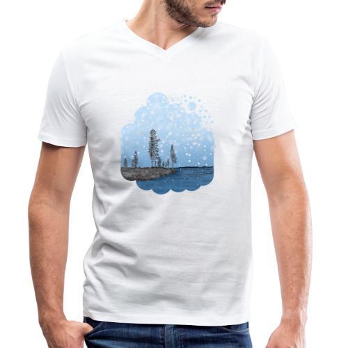 Première neige - T-shirt bio col V Stanley & Stella Homme