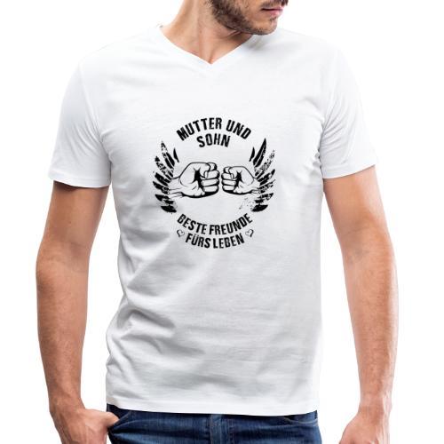 Mutter und Sohn - Männer Bio-T-Shirt mit V-Ausschnitt von Stanley & Stella