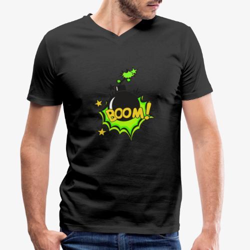 Serie Animaciones de los 80´s - Camiseta ecológica hombre con cuello de pico de Stanley & Stella