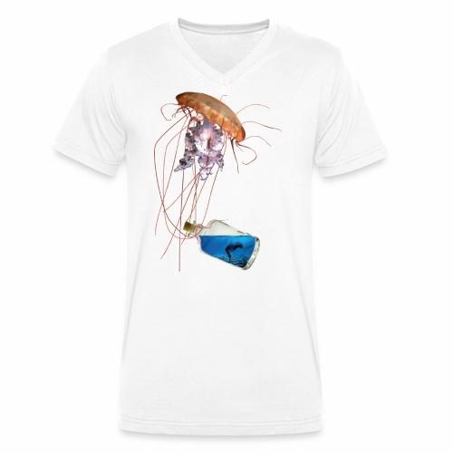Woman in a bottle - Männer Bio-T-Shirt mit V-Ausschnitt von Stanley & Stella