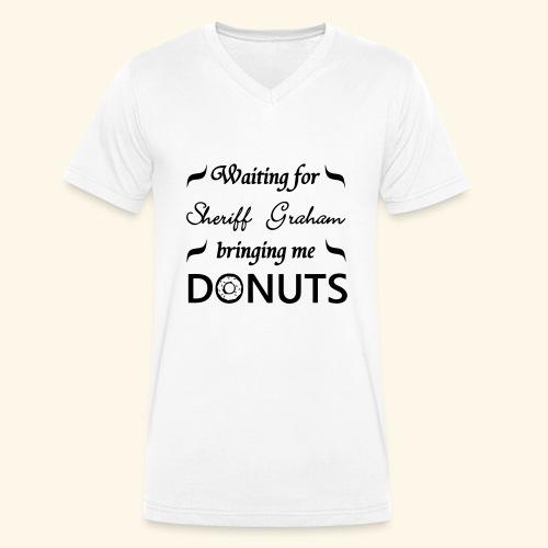 Sheriff Graham Donuts - Men's Organic V-Neck T-Shirt by Stanley & Stella