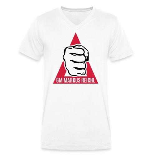 HK-RYU Faust - Männer Bio-T-Shirt mit V-Ausschnitt von Stanley & Stella