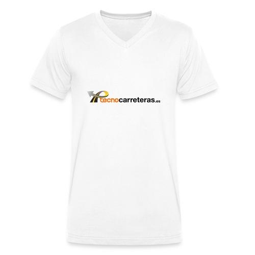 Tecnocarreteras - Camiseta ecológica hombre con cuello de pico de Stanley & Stella