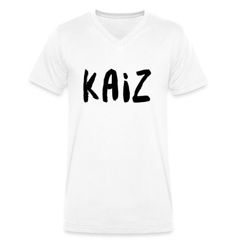 KAIZ LOGO 2 - T-shirt ecologica da uomo con scollo a V di Stanley & Stella
