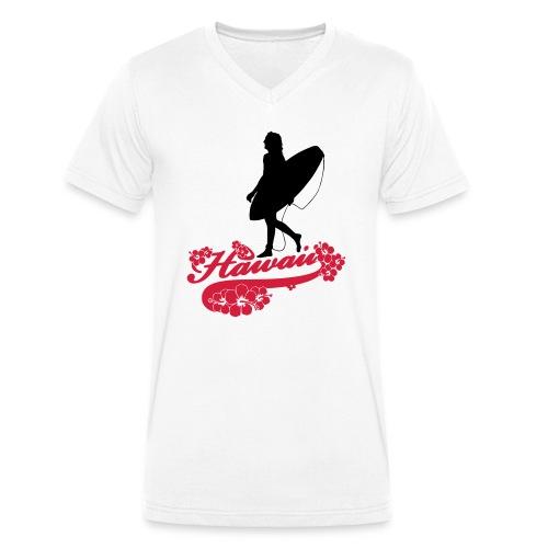 Surf Hawaii Longboard - Männer Bio-T-Shirt mit V-Ausschnitt von Stanley & Stella
