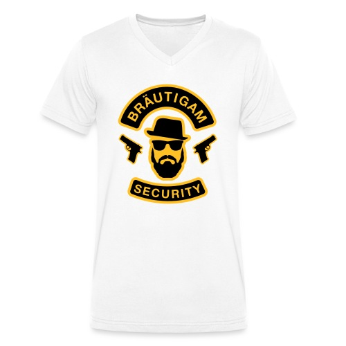 Bräutigam Security - JGA T-Shirt - Bräutigam Shirt - Männer Bio-T-Shirt mit V-Ausschnitt von Stanley & Stella