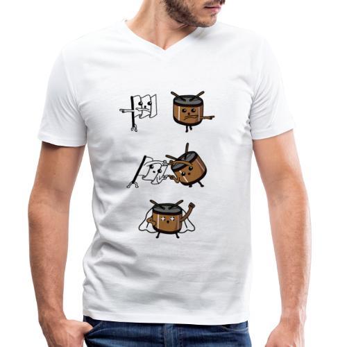 fusione - T-shirt ecologica da uomo con scollo a V di Stanley & Stella