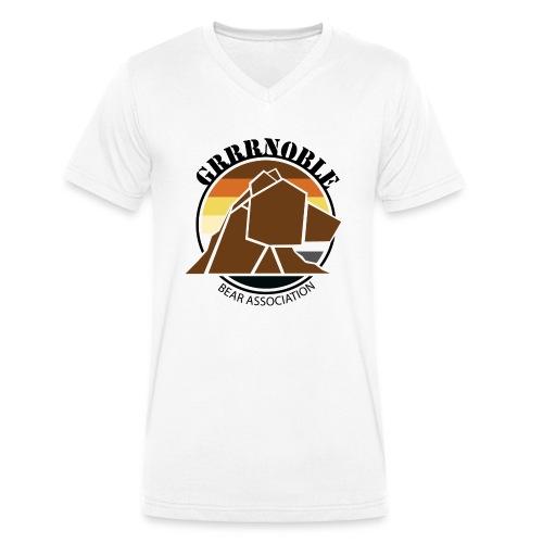 Logo 1 GRRRNOBLE BEAR ASSOCIATION - T-shirt bio col V Stanley & Stella Homme