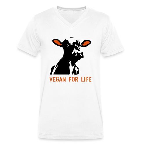 colorida vegan for life - Männer Bio-T-Shirt mit V-Ausschnitt von Stanley & Stella