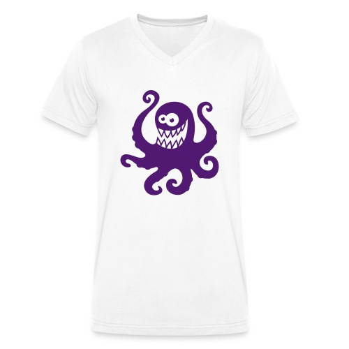 vl051b_krake_2c - Männer Bio-T-Shirt mit V-Ausschnitt von Stanley & Stella