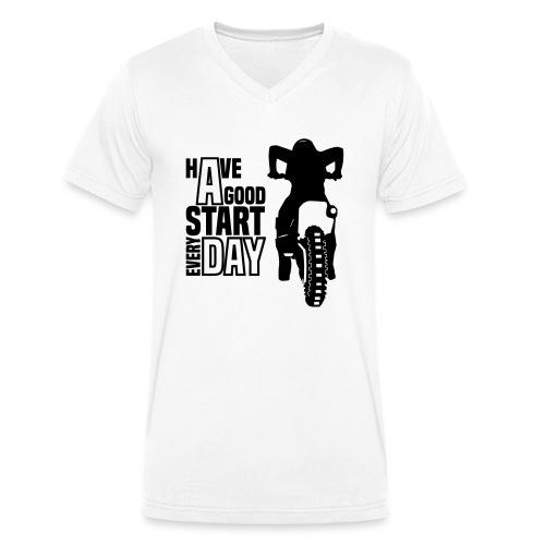 Have a good Start MX (HQ) - Männer Bio-T-Shirt mit V-Ausschnitt von Stanley & Stella